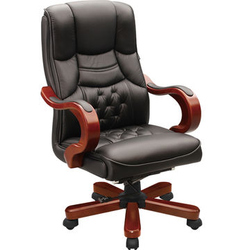 China Antique high quality CEO wooden executive chairs, wood frame