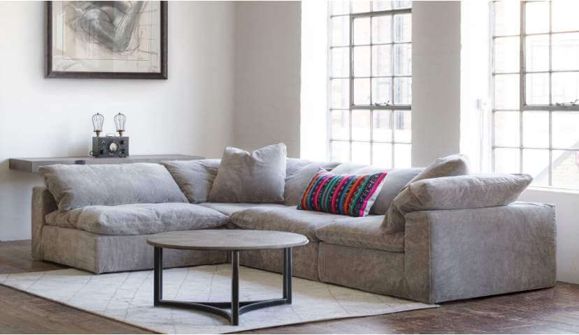 Feather Extra Deep Fabric Corner Sofa | Darlings