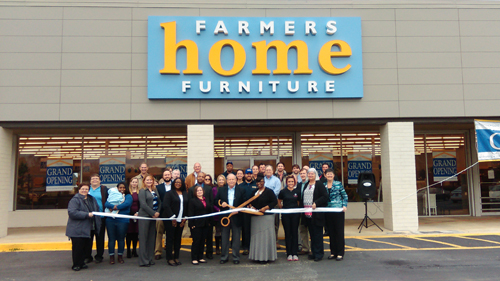 Farmer's Home Furniture Ribbon Cutting - Leeds Area Chamber of Commerce