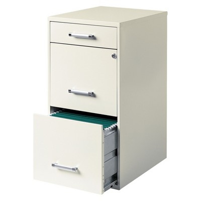 HIRSH 3-Drawer File Cabinet Steel : Target