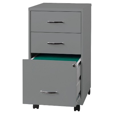 Vertical Filing Cabinet Clear Metal 3 Number Of Drawers Hirsh : Target