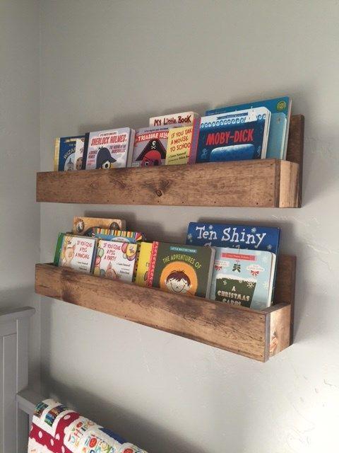 Floating Bookshelves | Set of 2 in 2019 | kids | Nursery bookshelf