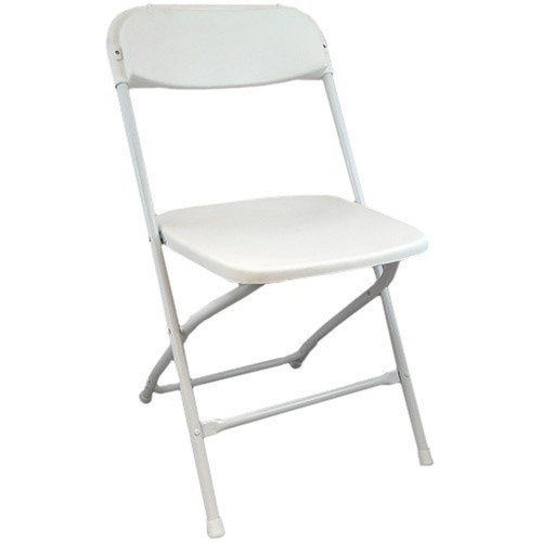 Lightweight White Plastic Folding Chairs | Foldable Chairs