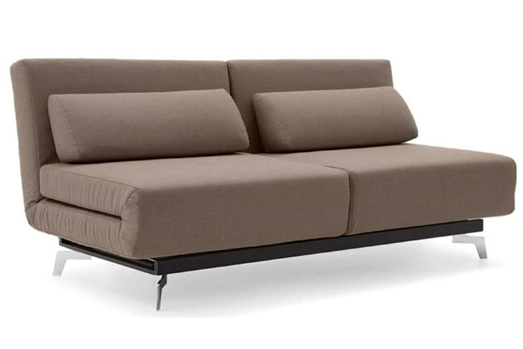 Brown Contemporary Convertible Sofa Bed | Apollo Bark | The Futon Shop