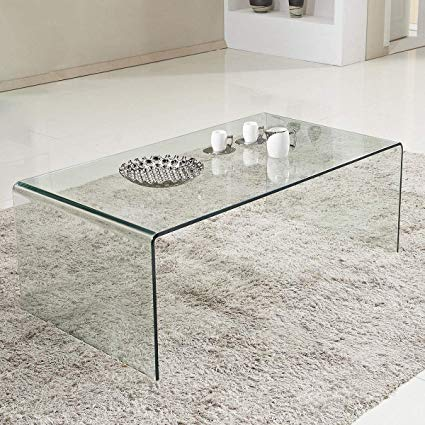 Amazon.com: Tangkula Glass Coffee Table Modern Home Office Furniture