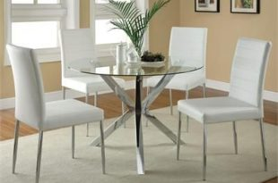 Modern chrome and glass dining table set #modern   Glass Dining