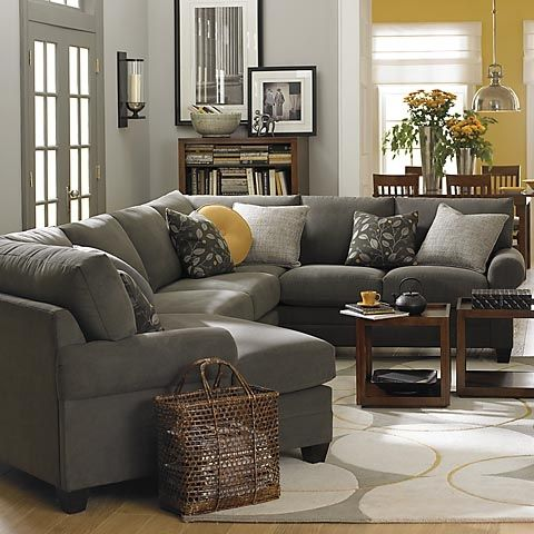 Charcoal Gray Sectional Sofa - Foter | House plans in 2019