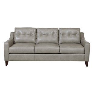 Dark Grey Leather Couch | Wayfair