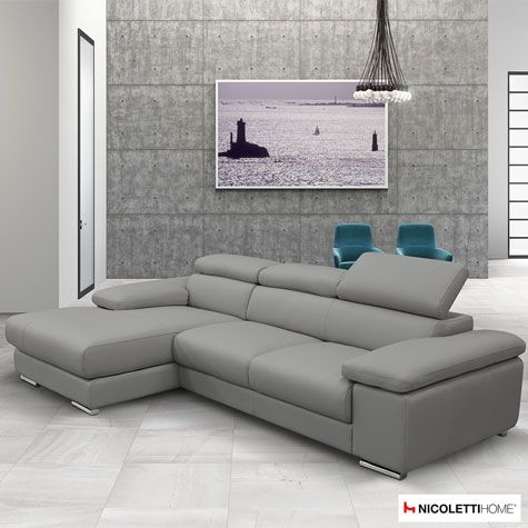 Grey Leather Sofa for a Classy Modern   Living Room