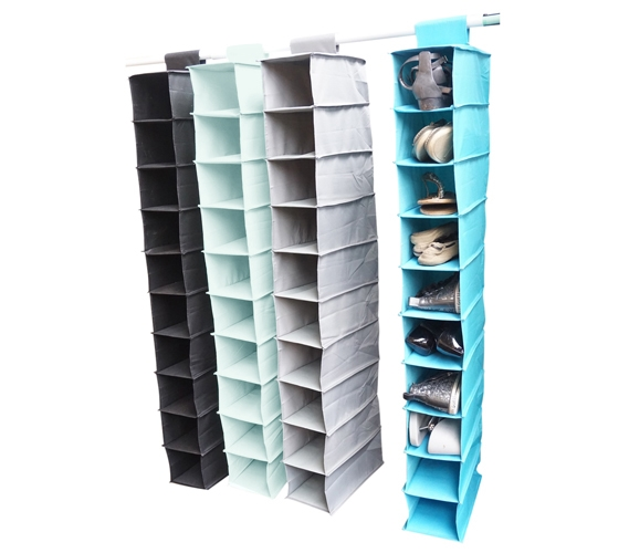 TUSK College Storage - Hanging Shoe Shelves Storage Closet