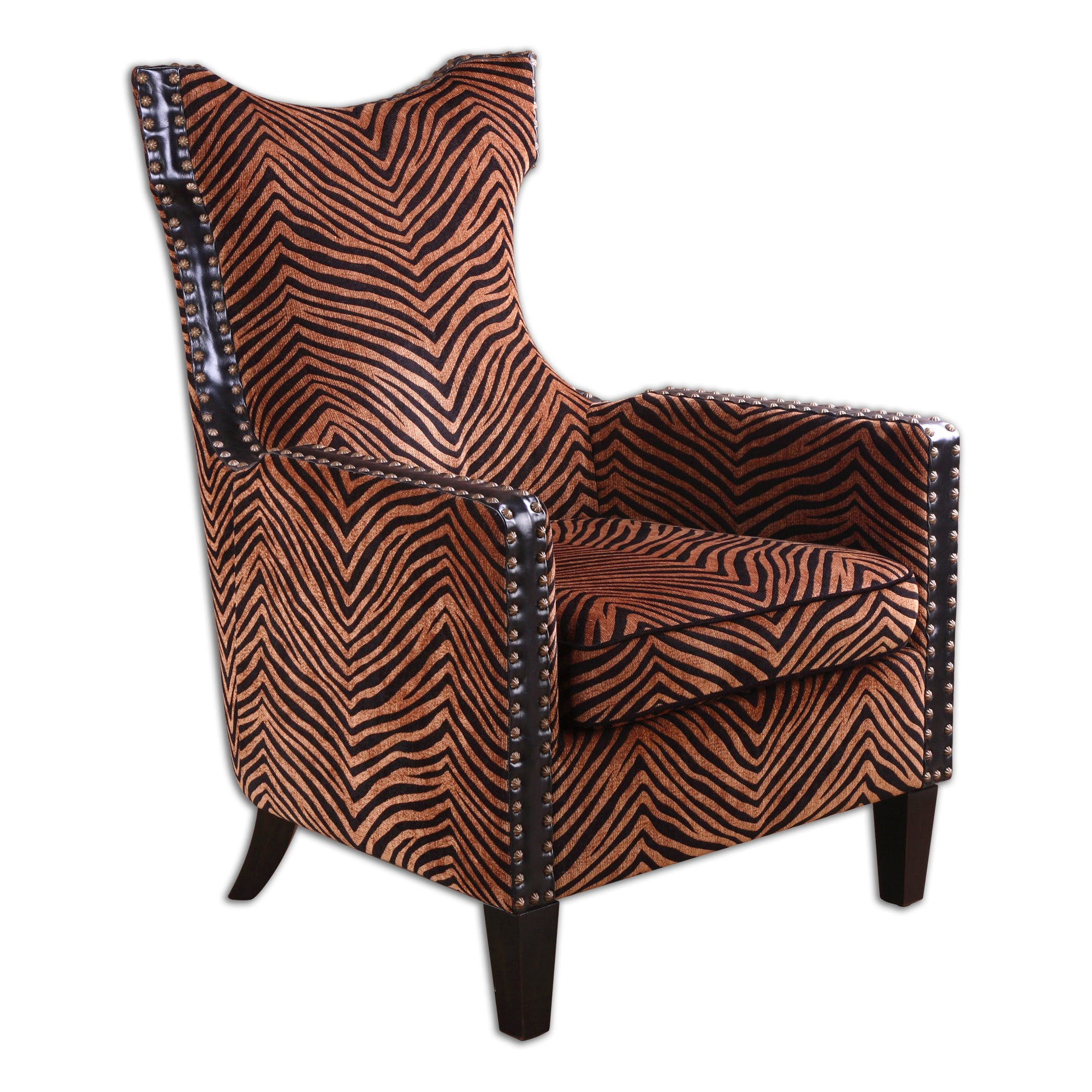 Uttermost Living Room Kimoni Wing Back Armchair 23003 - Carol House