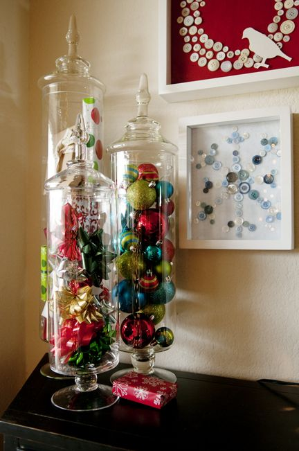 Christmas decorating idea- these containers can be used for so many