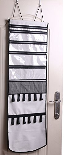 Minimalist Hanging Over The Door Jewelry Organizer With Mesh Holes