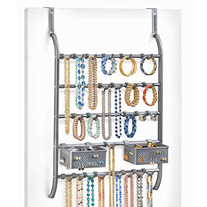 Amazon.com: Lynk Over Door Or Wall Mount Jewelry Organizer Rack