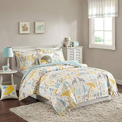 Amazon.com: INK+IVY Kids Woodland Twin Kids Bedding Sets - Yellow