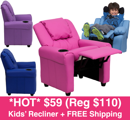HOT* $59 (Reg $110) Kids' Recliner + FREE Shipping