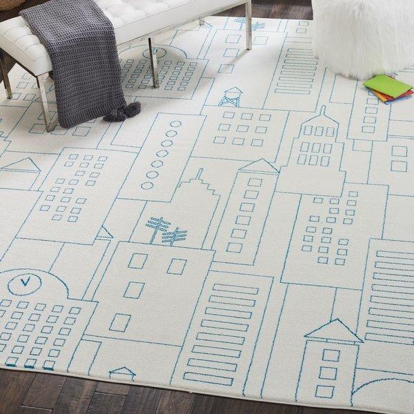 Shop Nourison Miles Ivory City Sketch Kids Rug - 4' x 6' - On Sale