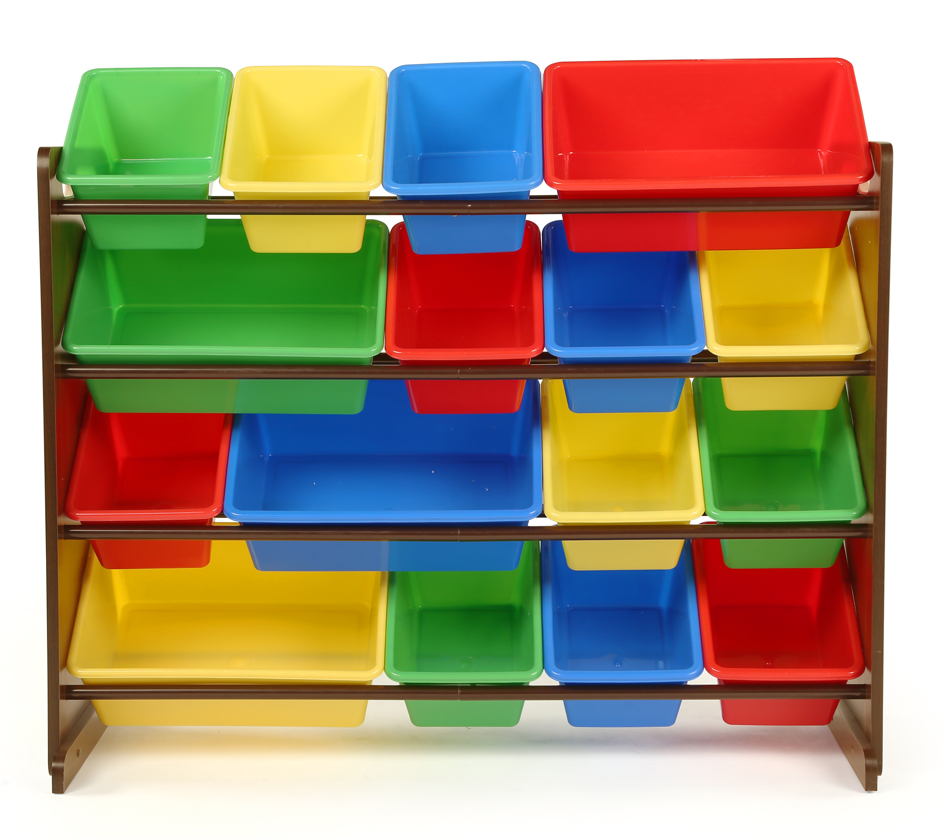 Tot Tutors Dark Walnut/Primary Super-Sized Kids Toy Storage