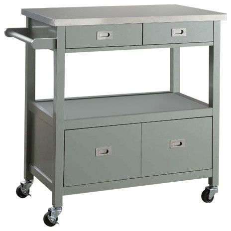 Sydney Kitchen Cart - Transitional - Kitchen Islands And Kitchen