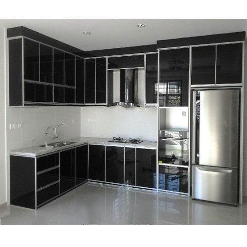 Black Aluminium Kitchen Cabinet, Rs 450 /square feet, Murugan