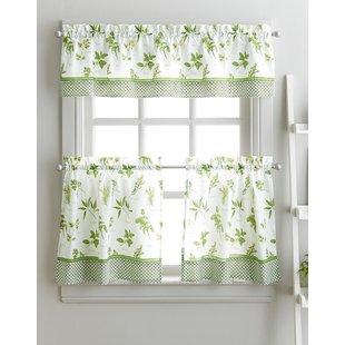 Kitchen Curtains & Valances You'll Love | Wayfair