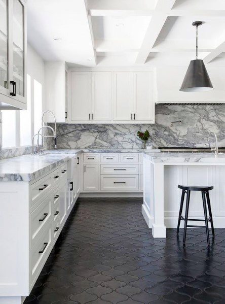 Top 60 Best Kitchen Flooring Ideas - Cooking Space Floors