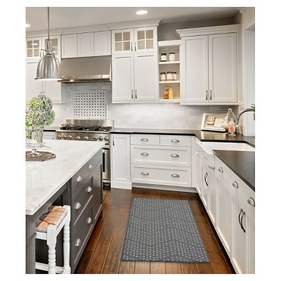 Gray Dot Kitchen Rug (1'8