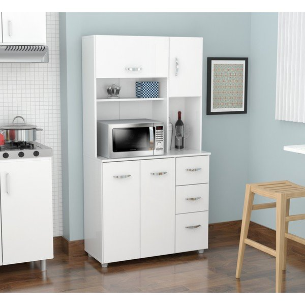 Shop White Kitchen Storage Cabinet - Free Shipping Today - Overstock