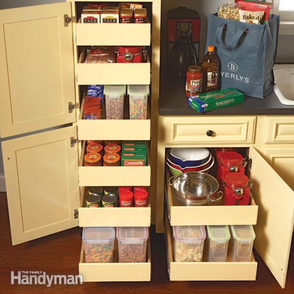 Kitchen Storage: Cabinet Rollouts u2014 The Family Handyman