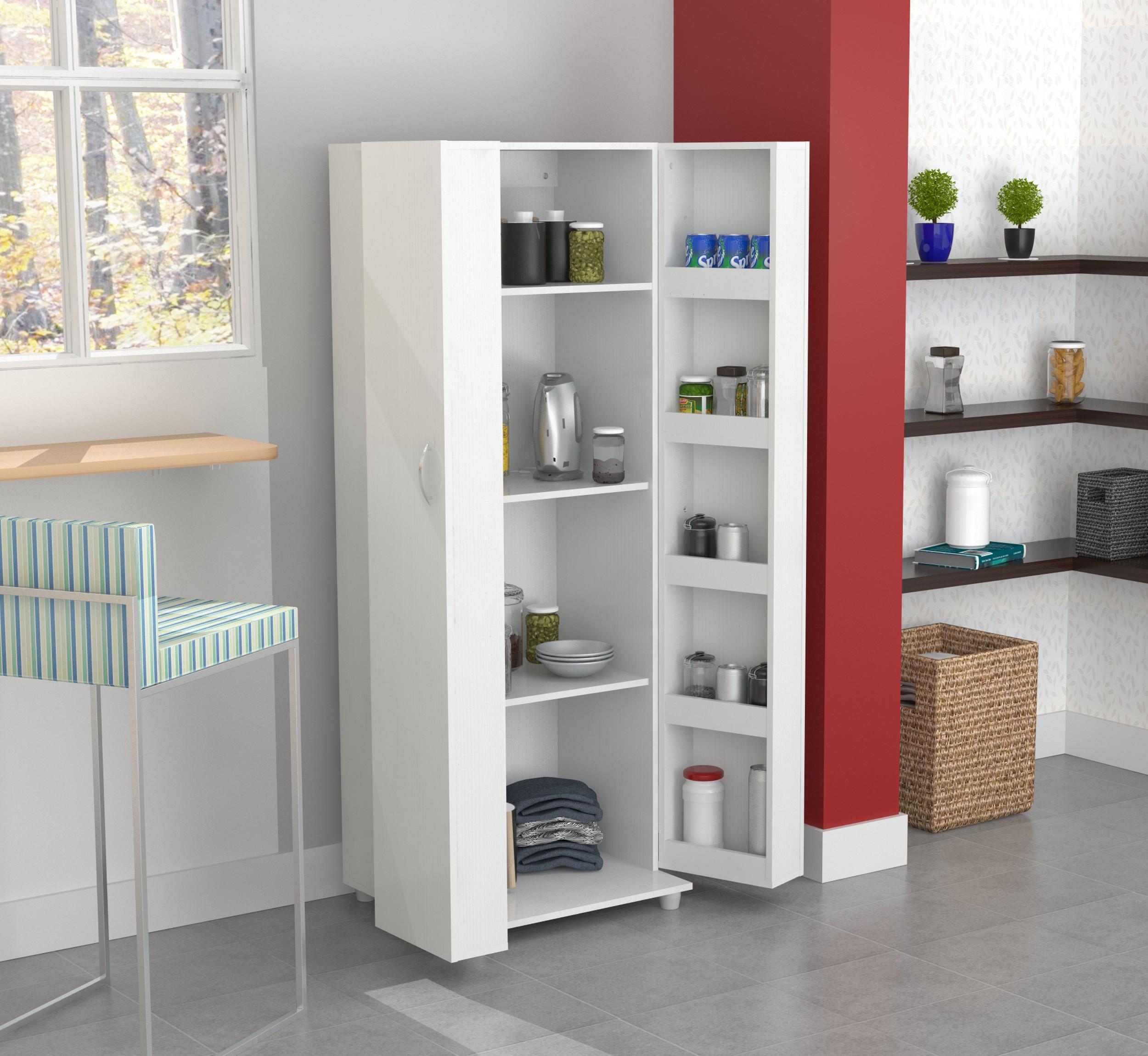 Inval Modern Laricina-white Kitchen Storage Pantry - Walmart.com