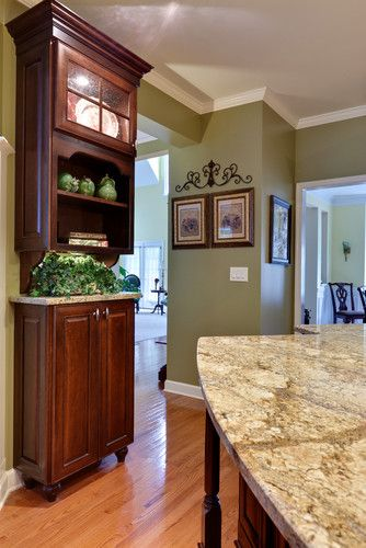 Kitchen Photos Olive Green Neutral Wall Color Design, Pictures