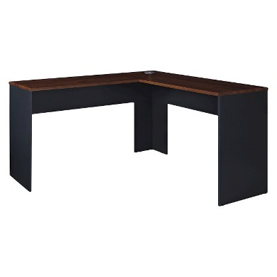 Eastcrest Contemporary L-Shaped Desk - Cherry/Slate Gray - Room