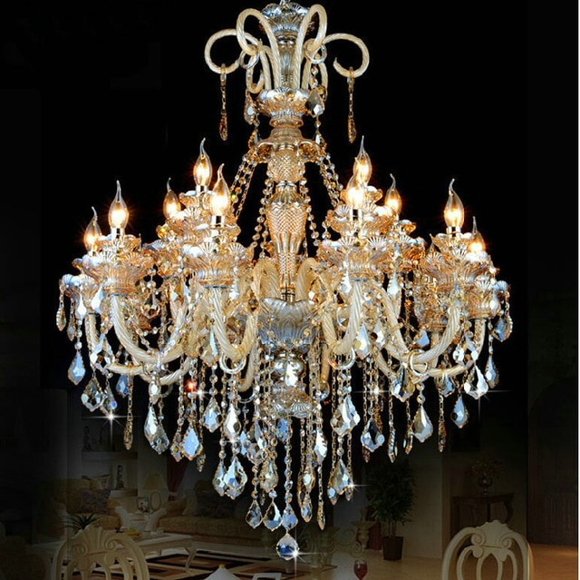 Large crystal chandelier 18 Arms Luxury crystal light chandelier