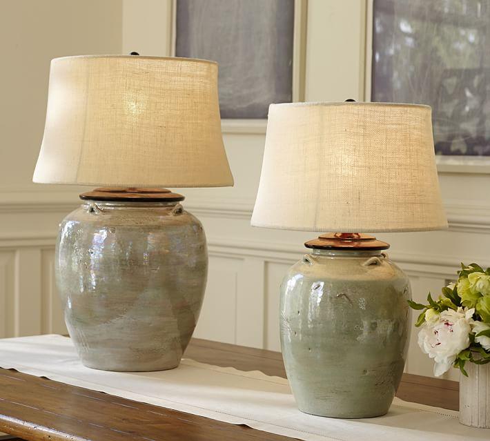 Courtney Ceramic Table Lamp Base - Blue | Pottery Barn