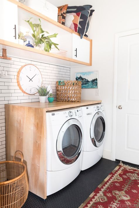Laundry Room Makeover: Reveal | Bloggers' Best DIY Ideas | Pinterest