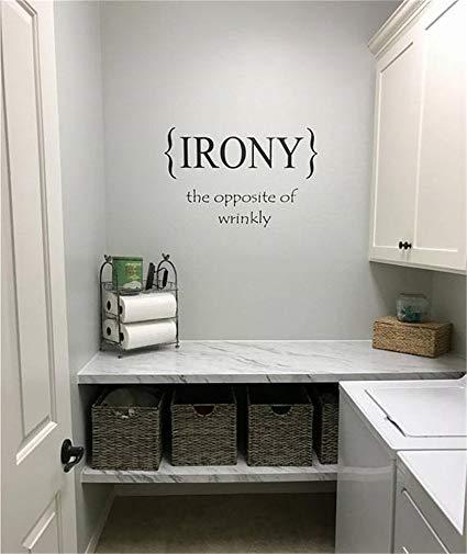 Amazon.com: siyjl Room Wall Decor Stickers Laundry Room Irony The