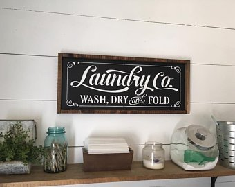 Laundry room sign | Etsy