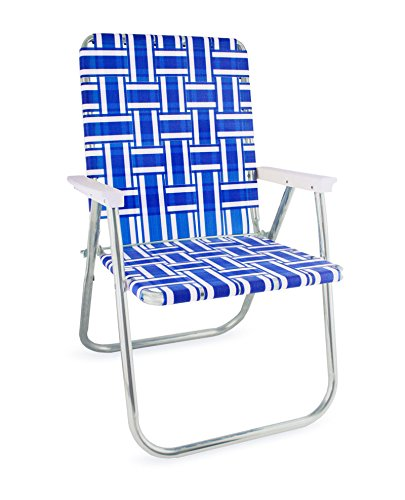 Amazon.com : Lawn Chair USA Webbing Chair (Deluxe, Blue and White