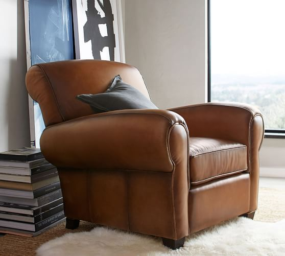 Manhattan Leather Armchair | Pottery Barn