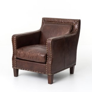 Full Grain Leather Club Chair | Wayfair