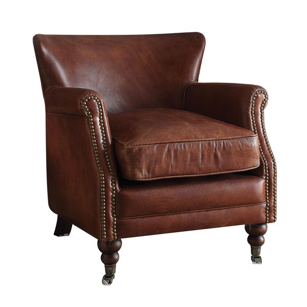 Leather Club Chair for Added Attraction