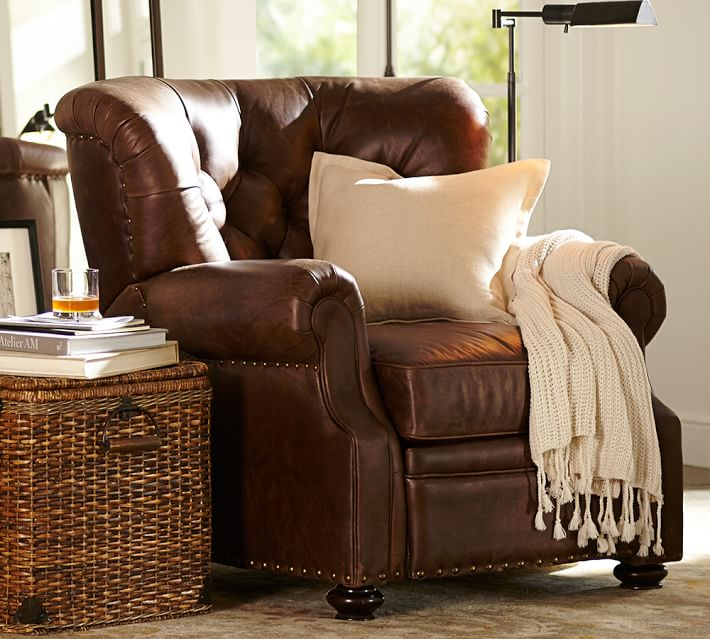 Lansing Leather Recliner | Pottery Barn