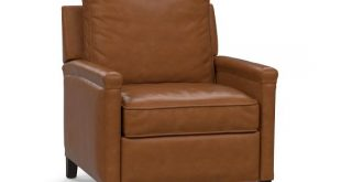 Tyler Leather Square Arm Recliner | Pottery Barn
