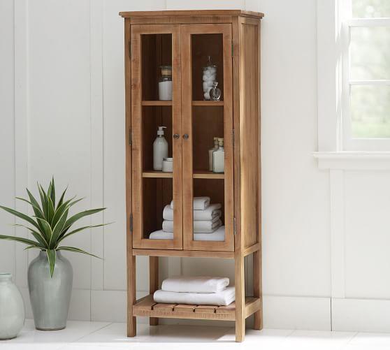 Rustic Wood Linen Closet | Pottery Barn