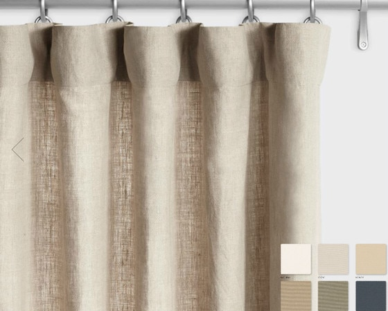 Belgian Linen Curtains - White, Grey, Cream, Slate, Custom Curtains