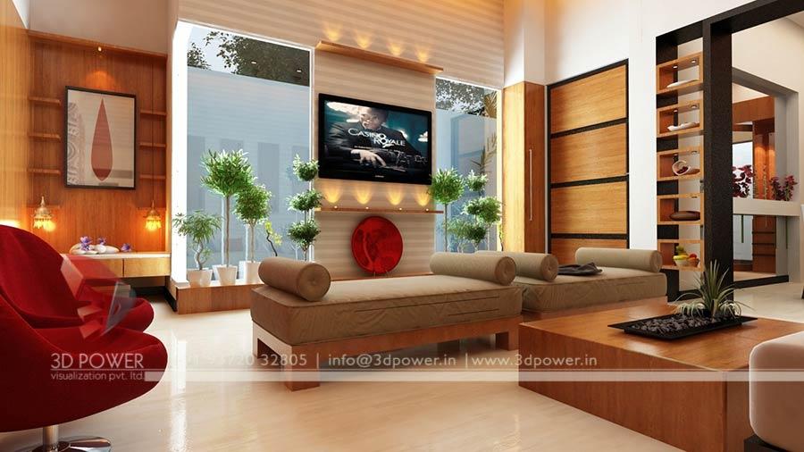 Modern Living Room Interior | Interior Design 3D Rendering | 3D Power