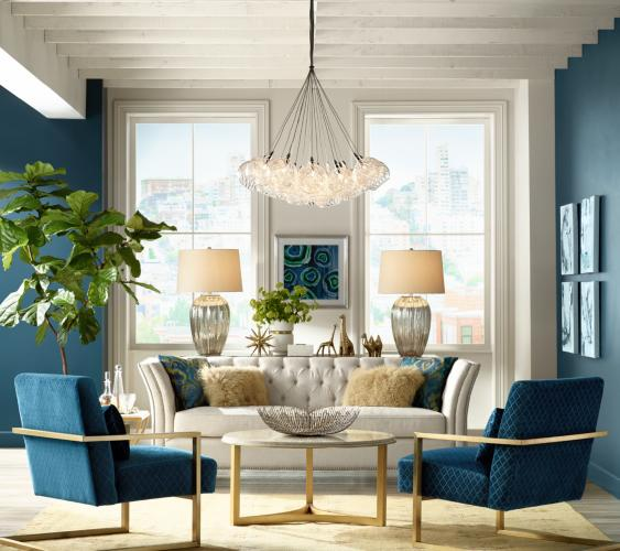 Living Room Lamps Create Beautiful Aura   in the Room
