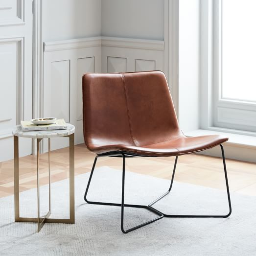 Slope Leather Lounge Chair | west elm