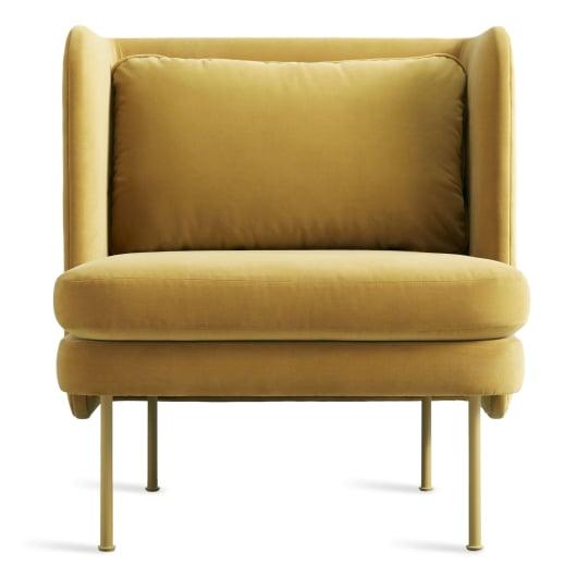 Modern Velvet Lounge Chair - Bloke Collection | Blu Dot