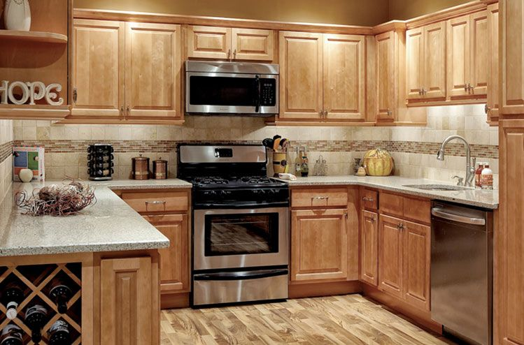 kitchens with honey maple cabinets | park-avenue-honey-maple-kitchen